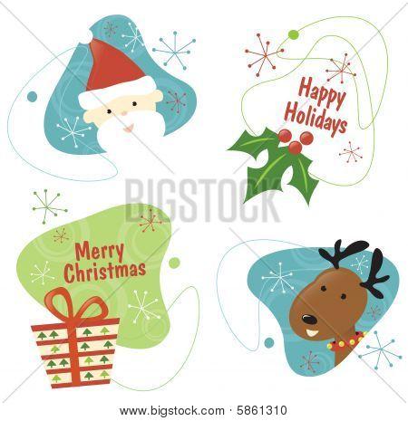 Retro Christmas Set 1