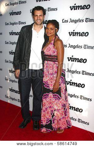 Kimberly Elise and James LaRosa at the
