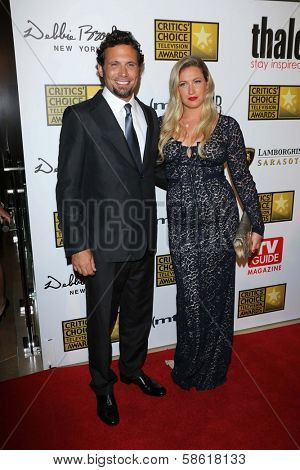 Jeremy Sisto and Addie Lane at the 3rd Annual Critics' Choice Television Awards, Beverly Hilton Hotel, Beverly Hills, CA 06-10-13