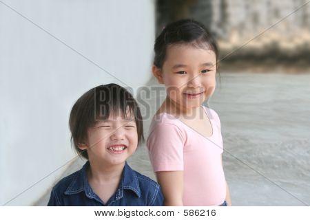 Girl & Little Boy