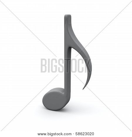 Musical note, 3d