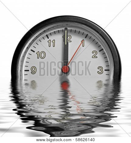 Sinking Frontal Clock Face