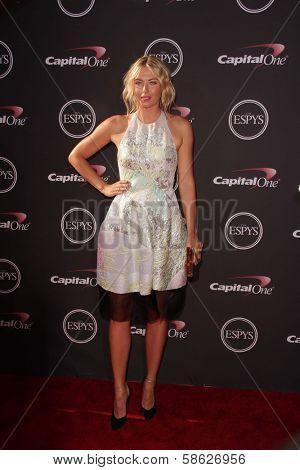 Maria Sharapova at The 2013 ESPY Awards, Nokia Theatre L.A. Live, Los Angeles, CA 07-17-13