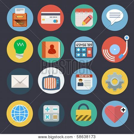 Flat Icons for Web and Applications Set 2