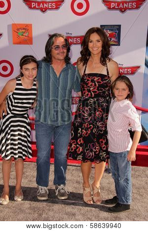 Amy Brenneman and family at the World Premiere Of Disney's Planes, El Capitan, Hollywood, CA 08-05-13