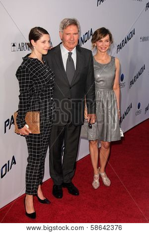 Georgia Ford, Harrison Ford and Calista Flockhart at the