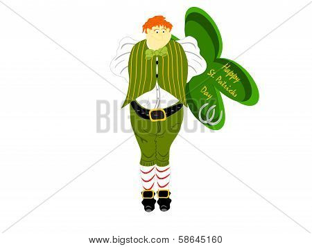 leprechaun large sign clover