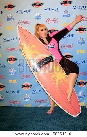 Rebel Wilson at the 2013 Teen Choice Awards Press Room, Gibson Amphitheatre, Universal City, CA 08-11-13