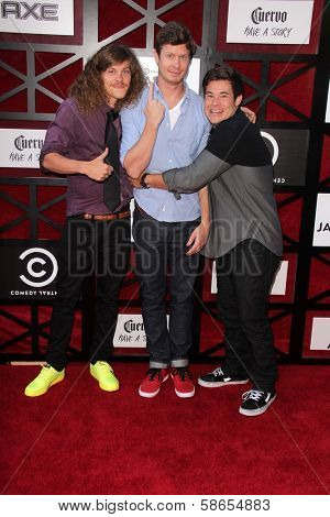Blake Anderson, Anders Holm and Adam DeVine at the Comedy Central Roast Of James Franco, Culver Studios, Culver City, CA 08-25-13