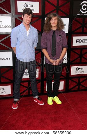 Anders Holm and Blake Anderson at the Comedy Central Roast Of James Franco, Culver Studios, Culver City, CA 08-25-13