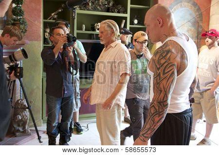 William Forsythe, Krzysztof Soszynski on set of