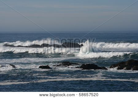 California Coast Landscape with Pacific Ocean Horizon