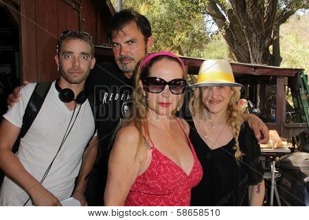 Devon Biehn, Larry Wade Carrell, Jenise Blanc, Jennifer Blanc-Biehn on the set of