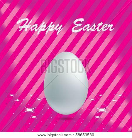 Easter Egg in pink background