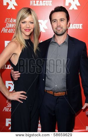 Kaitlin Olson, Rob McElhenney at the FXX Network Launch Party and