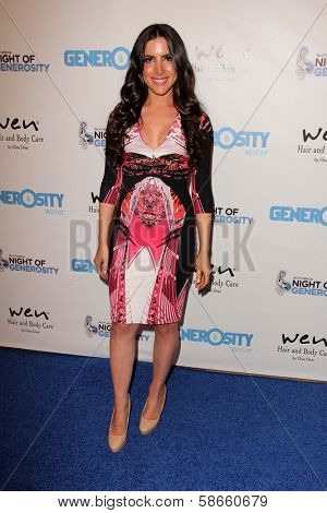 Caren Brooks at the 5th Annual Night of Generosity, Beverly Hills Hotel, Beverly Hills, CA 09-06-13