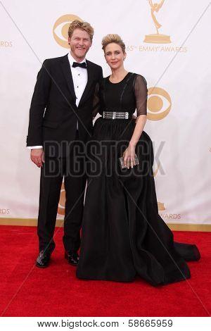 Vera Farmiga and husband Renn Hawke at the 65th Annual Primetime Emmy Awards Arrivals, Nokia Theater, Los Angeles, CA 09-22-13