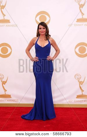 Tina Fey at the 65th Annual Primetime Emmy Awards Arrivals, Nokia Theater, Los Angeles, CA 09-22-13