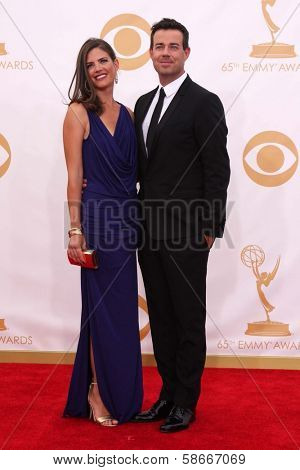 Carson Daly and Siri Pinter at the 65th Annual Primetime Emmy Awards Arrivals, Nokia Theater, Los Angeles, CA 09-22-13