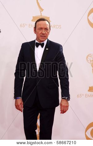 Kevin Spacey at the 65th Annual Primetime Emmy Awards Arrivals, Nokia Theater, Los Angeles, CA 09-22-13