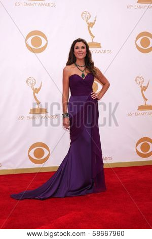 Thea Andrews at the 65th Annual Primetime Emmy Awards Arrivals, Nokia Theater, Los Angeles, CA 09-22-13