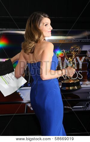 Tina Fey at the 65th Annual Primetime Emmy Awards Press Room, Nokia Theater, Los Angeles, CA 09-22-13
