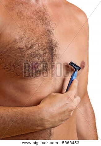 unshaved man