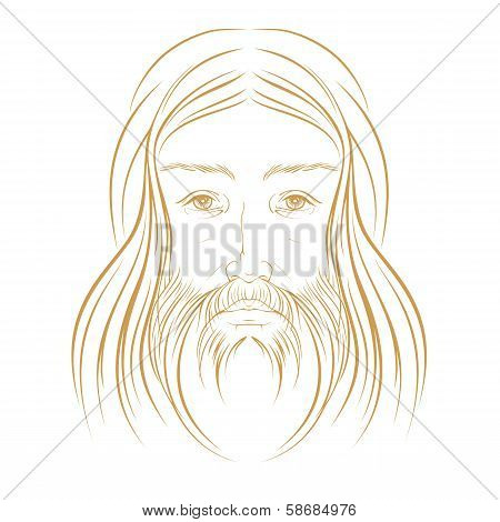 Jesus Christ Vector Illustration