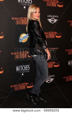 Olivia Holt at the 8th Annual LA Haunted Hayride Premiere Night, Griffith Park, Los Angeles, CA 10-10-13
