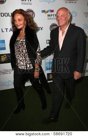 Diane von Furstenberg and Barry Diller at Hugh Jackman