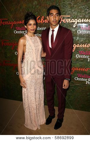 Freida Pinto and Dev Patel at the Wallis Annenberg Center For The Performing Arts Inaugural Gala, Wallis Annenberg Center For The Performing Arts, Beverly Hills, CA 10-17-13