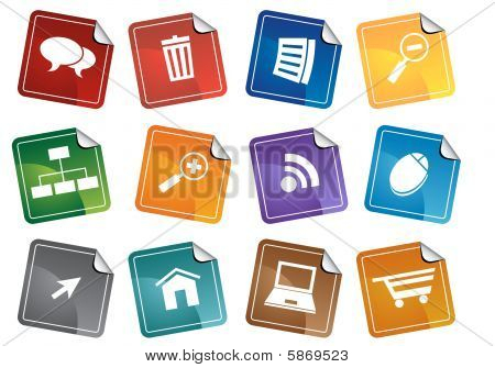 Internet Browser Sticker Set