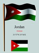 jordan wavy flag and coordinates against gray background vector art illustration image contains transparency poster