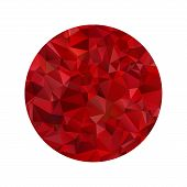 Red polygonal sphere. This is file of EPS8 format. poster