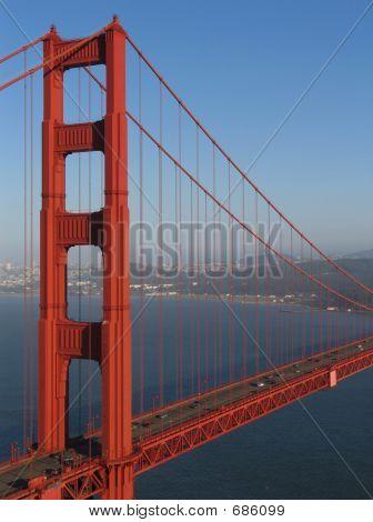 Golden Gate Bridge Northern Tower Offset