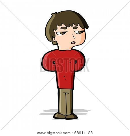 cartoon antisocial boy
