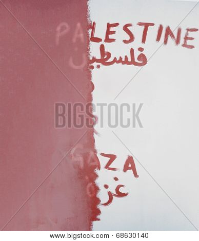 Conceptual image of wiping out the Palestine from the map