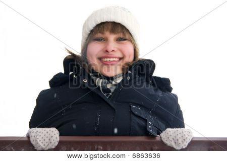 Smiling Girl On The Balcony