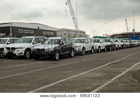 BMW Cars at Southampton Docks