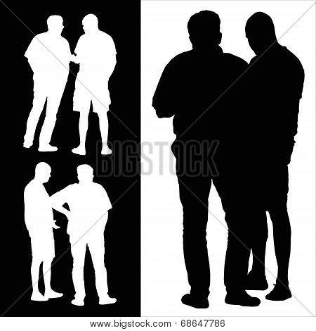 People Talking Silhouette