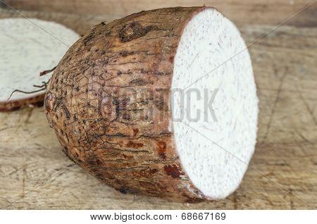 Sliced Malanga Root