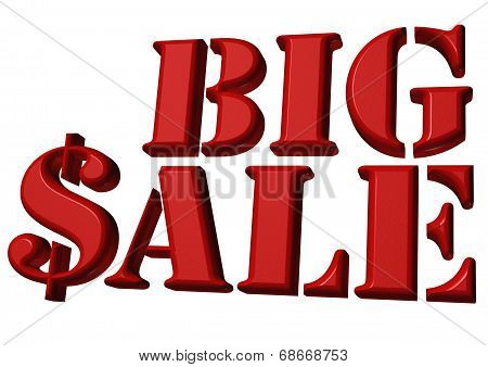 Glossy three-dimensional inscription Big Sale as a sign. poster