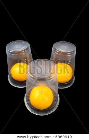 Disposable Cups With A Tangerine