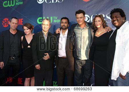 LOS ANGELES - JUL 17:  Dean Winters, Aubrey Dollar, David Shore, Kal Penn, Josh Duhamel, Janet McTeer, Edward Fordham Jr at the CBS TCA Party at thePDC on July 17, 2014 in W Hollywood, CA