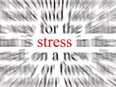 Blurred text with a focus on stress poster