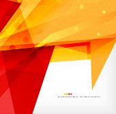 Modern 3d abstract shapes on white layout. Abstract background poster