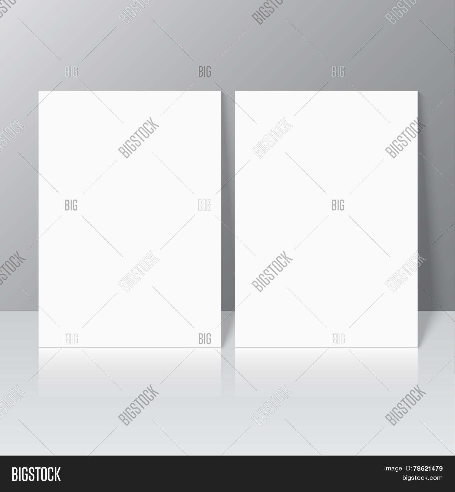 Blank Empty Magazine Vector Photo Free Trial Bigstock