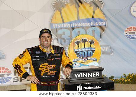 Sparta, KY - Sep 20, 2014:  Brendan Gaughan (62) wins the VisitMyrtleBeach.com 300 at Kentucky Speedway in Sparta, KY.