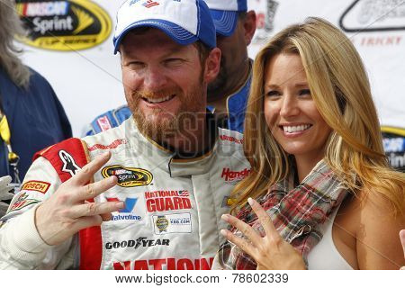 Long Pond, PA - Aug 03, 2014:  Dale Earnhardt Jr. (88) wins the GoBowling.com 400 at Pocono Raceway in Long Pond, PA.