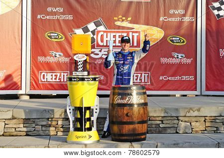 Watkins Glen, NY - Aug 10, 2014:  A.J. Allmendinger (47) wins the Cheez-It 355 at The Glen at Watkins Glen International in Watkins Glen, NY.